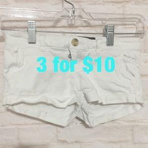 Abercrombie kids white shorts 10